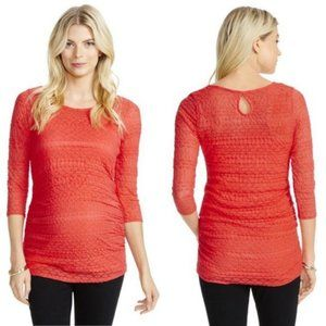 NWT Jessica Simpson Ruched Maternity Blouse